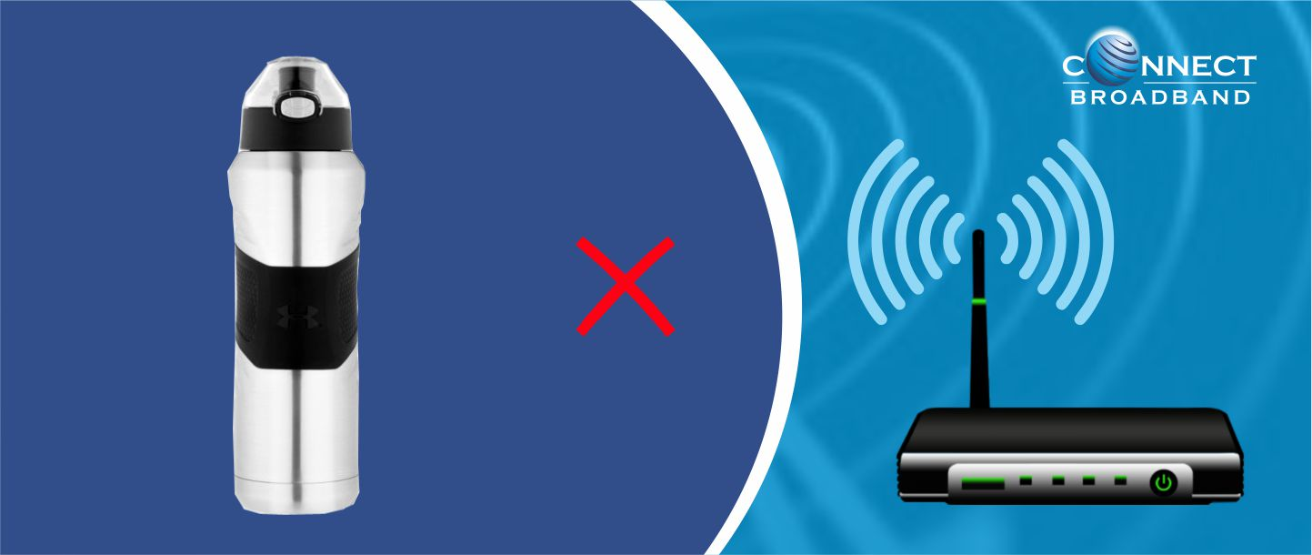 Avoid metallic objects near your Wi-Fi routers